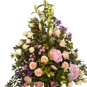 Flowers for funeral pastel arrangements